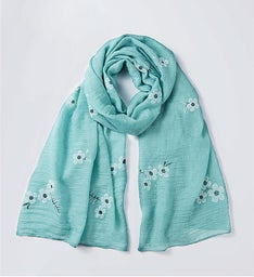 Sage Cherry Blossom Scarf by Bayberry Road