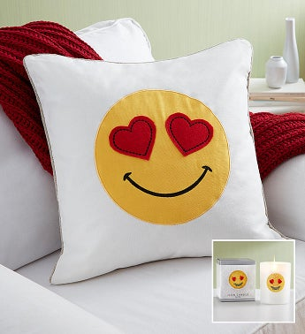 Emoji Pillow And Candle