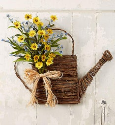 Watering Can Faux Door Hanger