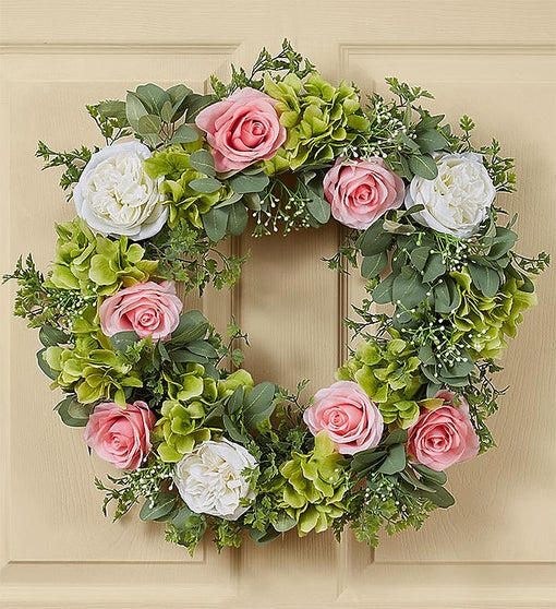 Keepsake Peony And Rose Garden Wreath - 24 Inches