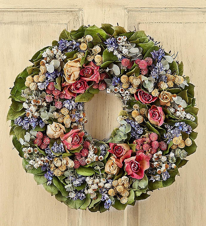 Preserved Rose Wreath – 16""