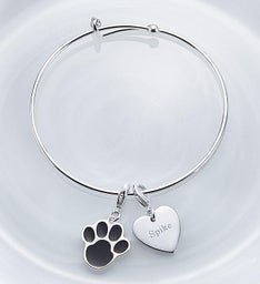 Personalized Paw Print Bangle