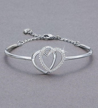 Swarovski Interlocking Hearts Bracelet