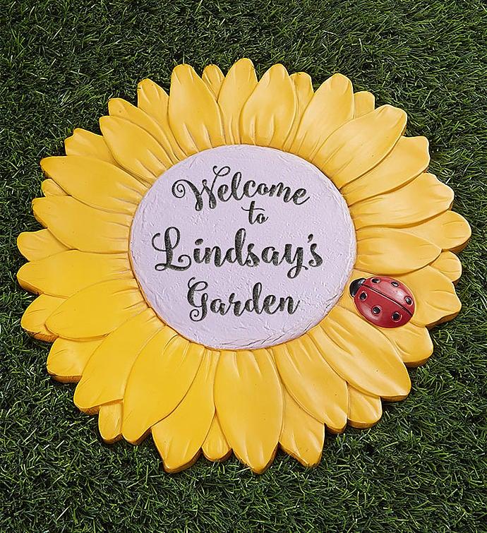 Personalized Sunflower Garden Stone