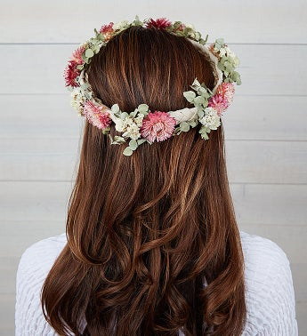 Preserved Floral Crown - Blush Pink