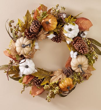 Autumn Pumpkin Wreath & Centerpiece-24