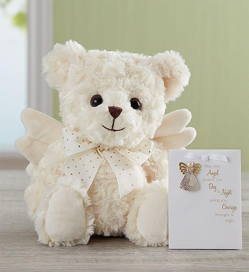 Bearington® Angel Bear and Guardian Angel Pin