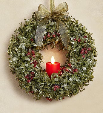 Kissing Krystals Light Up Wreath