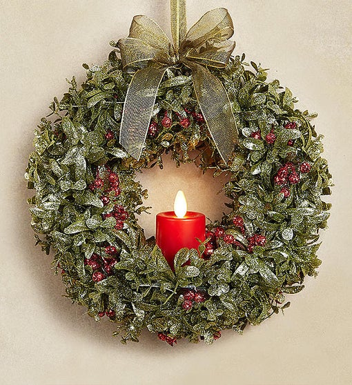 Kissing Krystals® Light Up Wreath