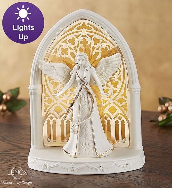 Lenox®  Illuminated Lit Angel Scene
