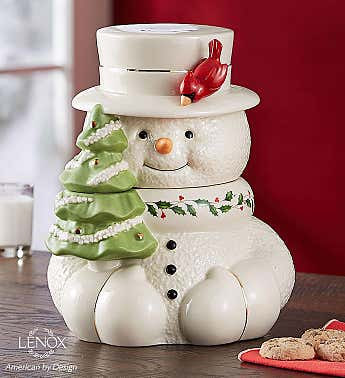 Lenox® Happy Holly Days™ Snowman Cookie Jar