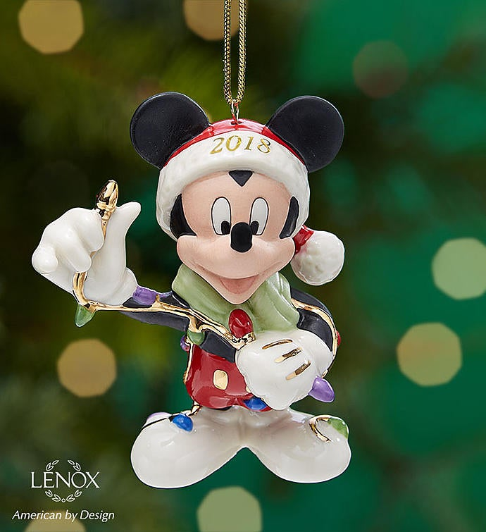 Lenox 2018 Merry & Bright Mickey Mouse Ornament