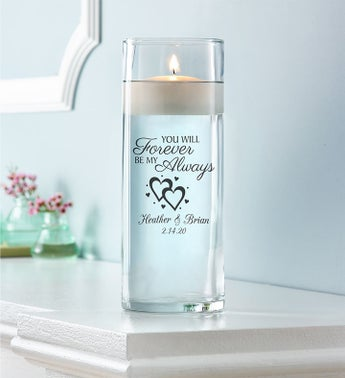 Personalized Floating Love Candle
