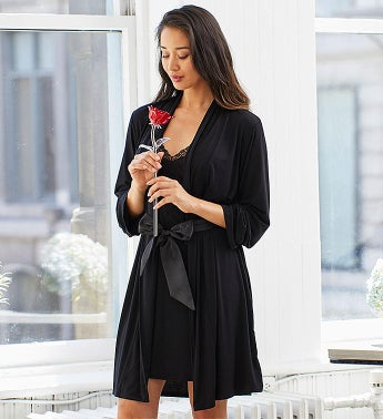 Fleur't Chemise & Robe Set with Waterford® Rose