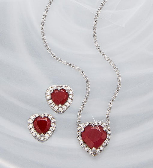 Ruby Red Heart Set