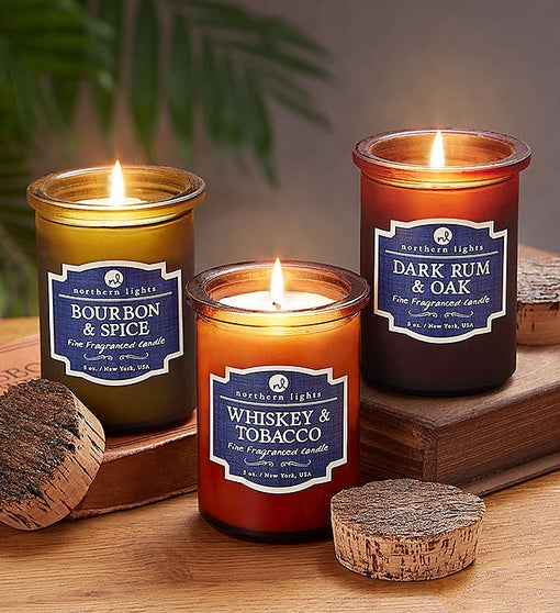 Northern Lights Father's Day Candle Trio