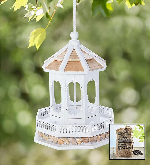 Gazebo Birdfeeder with Seed