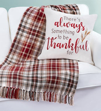 Cozy Fall Pillow and Blanket Set