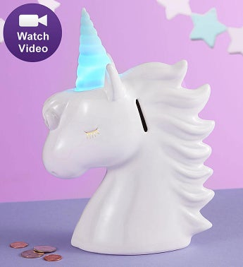 Unicorn Light Up Bank