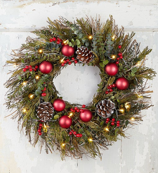 "22"" Holiday Cheer Wreath"