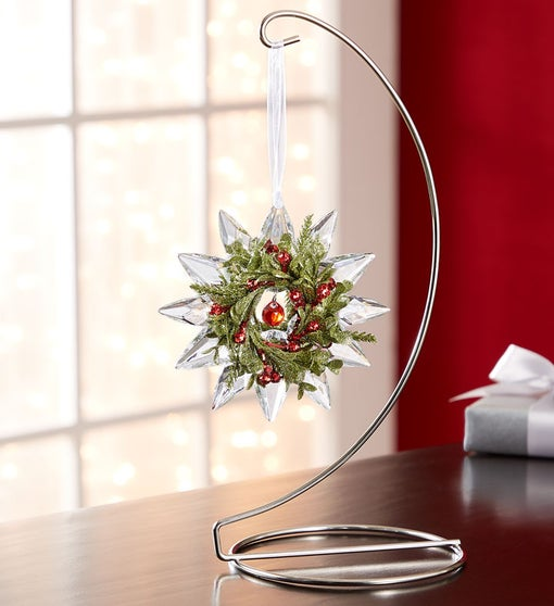 Kissing Krystals® Mini Mistletoe Jewel Snowflake
