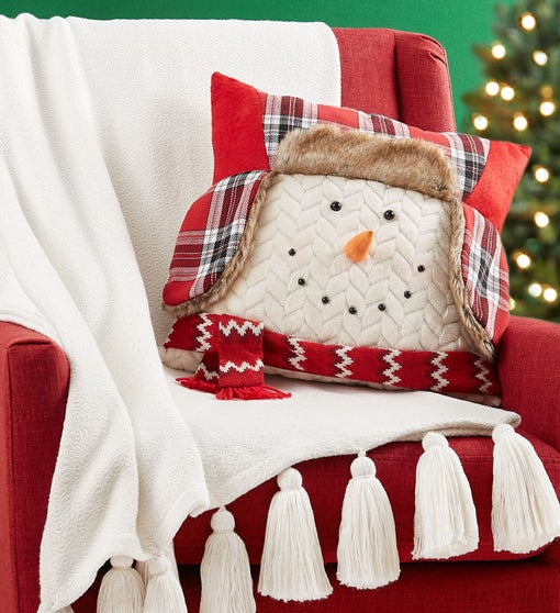 Snowman Pillow and Blanket Snuggle Set