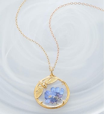 Catherine Weitzman Forget Me Not Floral Necklace