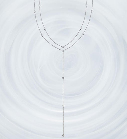 Crislu Adjustable Round Bezel Set Y Necklace-28
