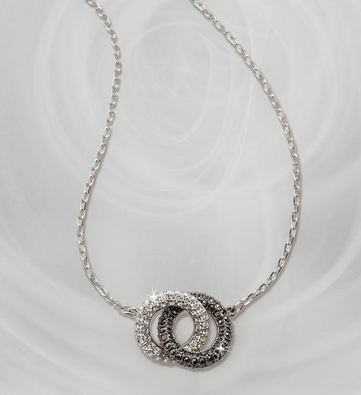 Swarovski® Two Tone Circle Pendant