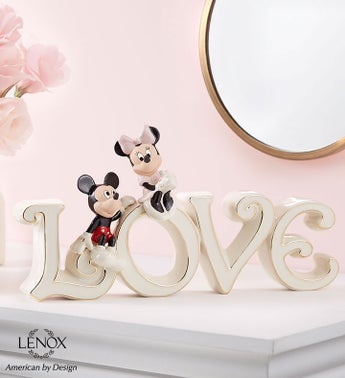 Lenox Mickey  Minnie True Love Collectible
