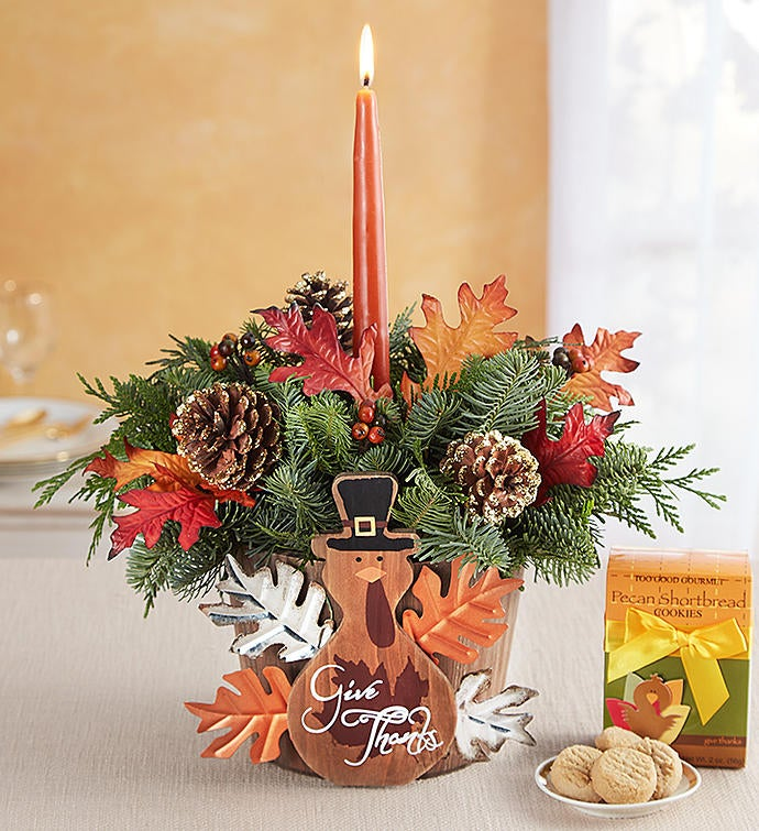 Give Thanks Turkey Centerpiece