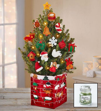 countdown to christmas tree free candle - Christmas Decor Catalogs Free