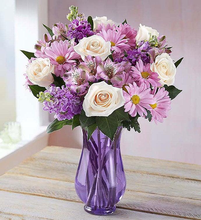 Lavender Garden with Purple Vase