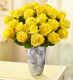 Yellow Roses + Free Shipping