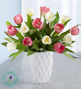 Pink & White Tulips by Real Simple®