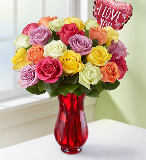I Love You Assorted Roses