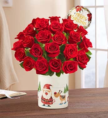 Let it Snow Red Roses