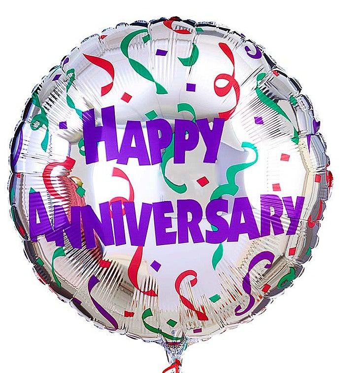One Mylar Balloon (Balloon designs may vary) Happy Anniversary