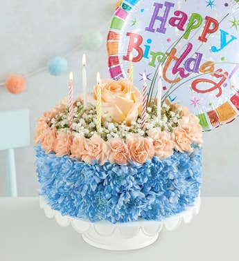 Birthday Wishes Flower Cake™ Coastal