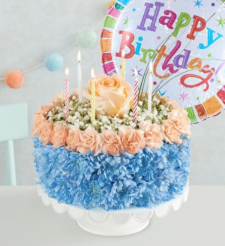 Birthday Wishes Flower Cake Coastal 1800Flowerscom 166259