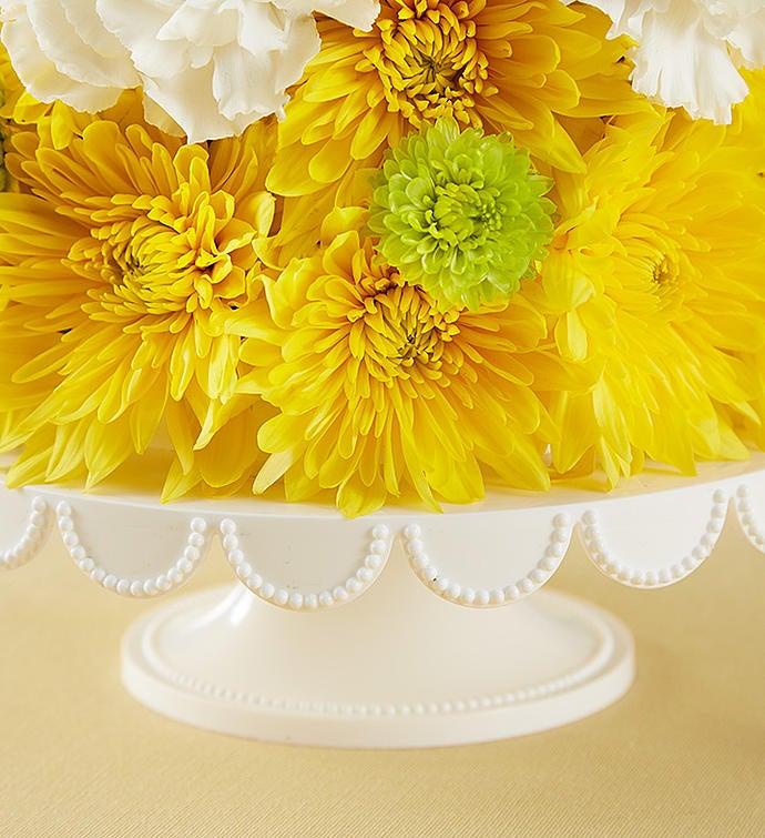 Birthday wishes flower cake pupcake 1800flowers 166260 166260altview3 mightylinksfo