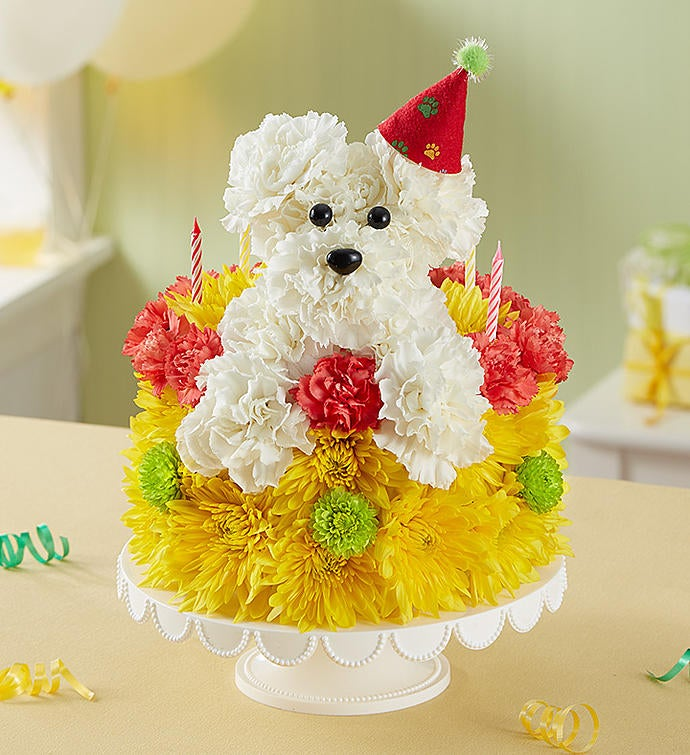 Birthday Wishes Flower Cake™ Pupcake™