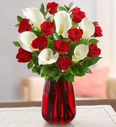 Red Rose and Calla Lily Bouquet