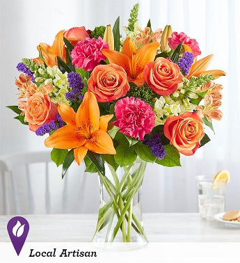Same Day Local Florist Delivery Vibrant Floral Medley