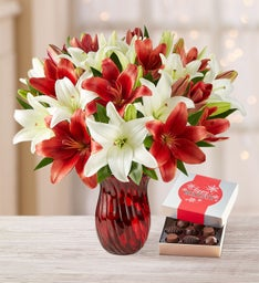 Holiday Lily Bouquet + Free Shipping