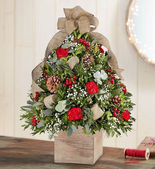 Cozy Cabin Holiday Flower Tree®