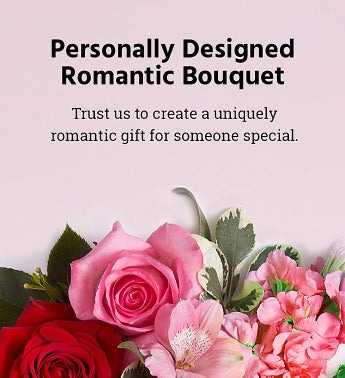 Personally Designed Romantic Bouquet Large