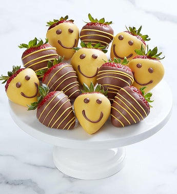 Full Dozen Strawberry Smiles Dipped Strawberries