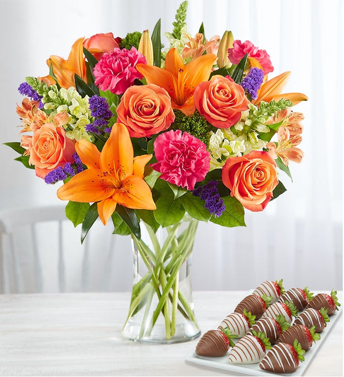 Vibrant Floral Medley™ with Strawberries