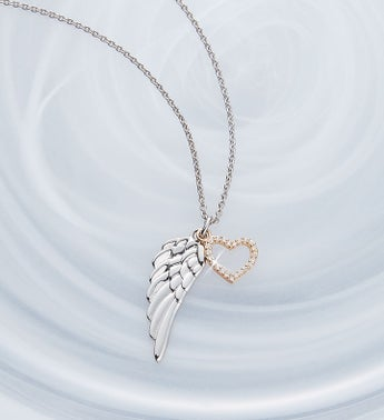 Crislu Angel Wing Necklace for Sympathy